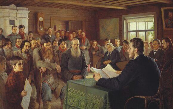 Богданов-Бельский. Воскресное чтение в сельской школе(1)